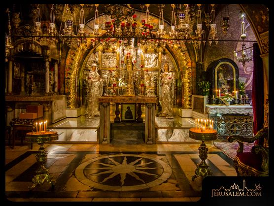 Altar marking Golgotha