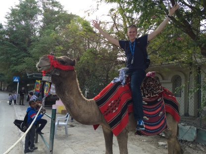 Andrew E on a Camel