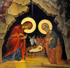 DETAIL FROM ICON OF THE NATIVITY